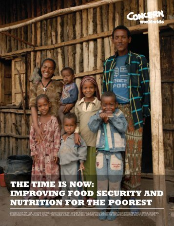 the time is now: improving food security and nutrition for the poorest