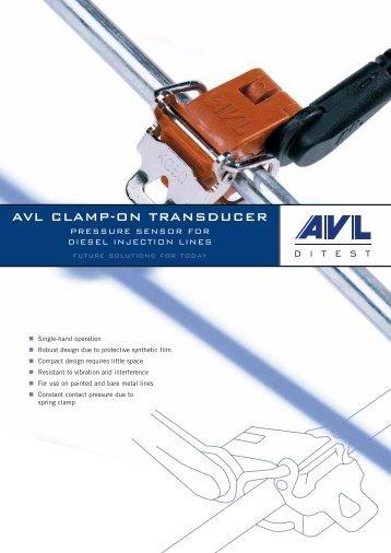 AVL CLAMP-ON TRANSDUCER - AVL DiTEST