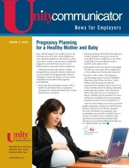 Issue 3, 2008 - Unity Health Insurance