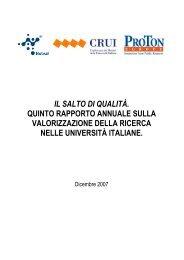 il quinto rapporto annuale sulla valorizzazione della ricerca ... - Netval