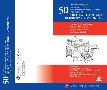 critical care and emergency medicine - Eisenhower Medical Center