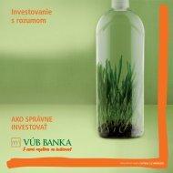 Investovanie s rozumom (PDF, 480 kB) - VÚB banka