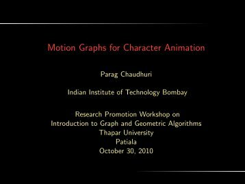 Motion Graphs for Character Animation