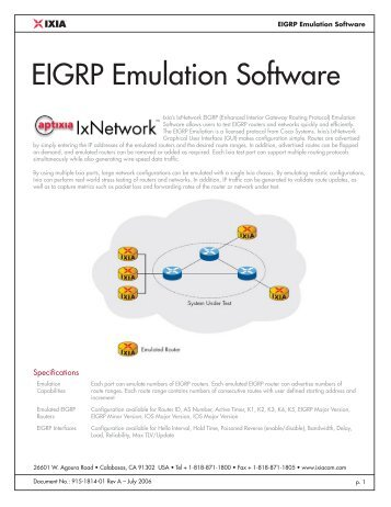 EIGRP Emulation Software - Ixia