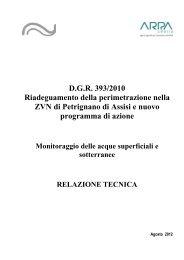 Relazione tecnica - ARPA Umbria