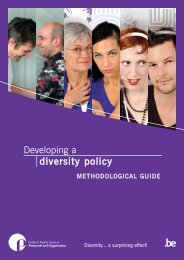 Developing a diversity policy - Fedweb - Belgium