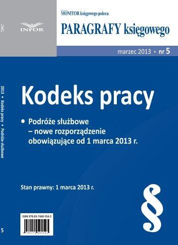 nowe rozporządzenie obowiązujące od 1 marca 2013 r. - Infor
