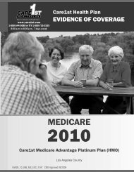 English - Care1st Health Plan
