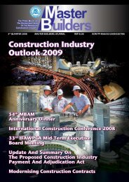 Construction Industry Outlook 2009 - Master Builders Association ...