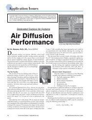 Air Diffusion Performance - DOAS - Penn State University