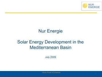 Solar power for Europe from North Africa - Electricity Policy ...