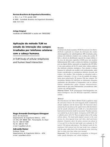 Aplicação do método TLM no estudo da interação dos campos ...