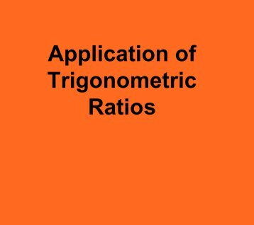 Trigonometry Applications Problems (Lessons 7-13) - Ciclt.net