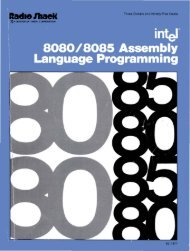 Intel 8080-8085 Assembly Language Programming 1977 Intel