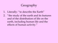 Geography - Webpages at SCU