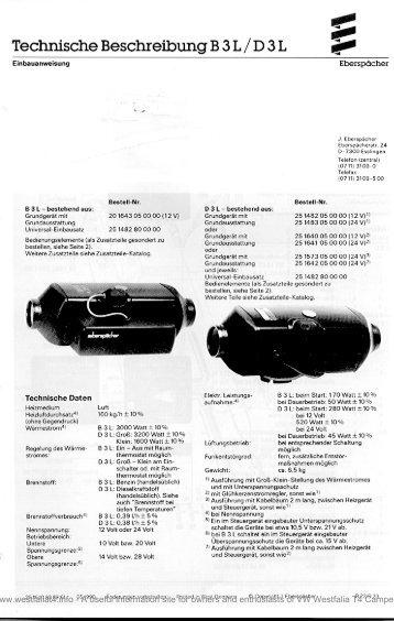 Download Eberspacher B1L-D1L Heater Technical Description