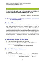 Measures to Save Energy of Introduction of BEMS and ... - ECCJ