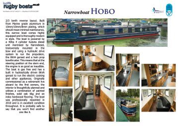 Narrowboat HObO - Rugby Boat Sales