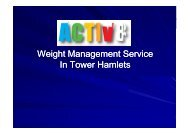 Weight Management Service In Tower Hamlets - Policy Review ...
