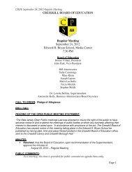 CBOE September 24, 2012 Regular Meeting (pdf) - Cresskill Public ...