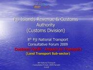 Fiji Islands Revenue & Customs Authority (Customs Division ...