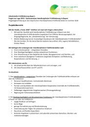 Projektübersicht - Arbeitsstelle Frühförderung Bayern
