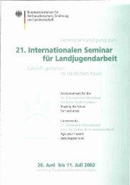 21. Internationalen Seminar für Landjugendarbeit - 26 ...