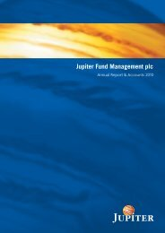 Jupiter Annual Report 2010 - Jupiter Asset Management