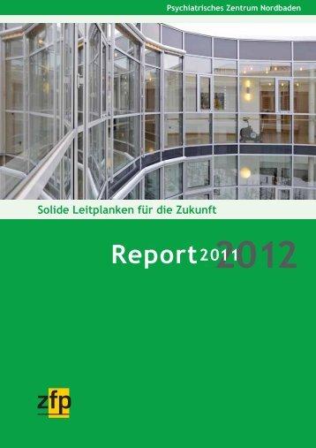 Report 2012 - Psychiatrisches Zentrum Nordbaden