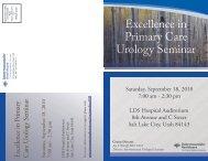 Excellence in Primary Care Urology Seminar - Intermountain.net