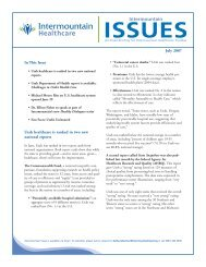 eMail Blast for print july:Issues - Intermountain.net