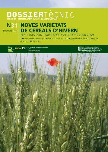 Dossier tècnic número 31: Noves varietats de cereals d ... - RuralCat