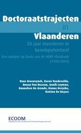 Doctoraatstrajecten in Vlaanderen - Universiteit Gent