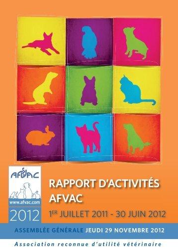 Rapport d'Activites AFVAC du 1er Juillet 2011 au 30 Juin 2012