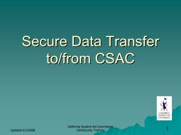 Secure Data Transfer to/from CSAC - Webgrants
