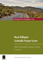 Sustainable Transport System Draft Sustainable ... - Wellington Park