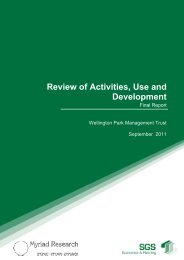 Review of Use and Development: SGS Economics ... - Wellington Park