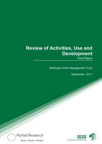 Review of Use and Development: SGS Economics ... - Wellington Park