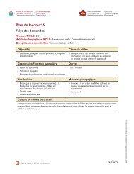 Plan de leçon no 6