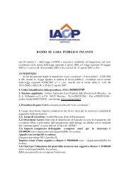 BANDO DI GARA PUBBLICO INCANTO - IACP MESSINA