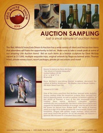 2012 RWS Auction Items - National Ability Center