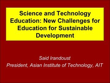 Education for Sustainable Development