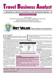 August 2003 - Travel Business Analyst