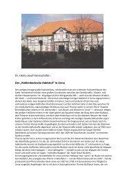 Dr. Heinz-Josef Horstschäfer - Geschichtswerkstatt Unna