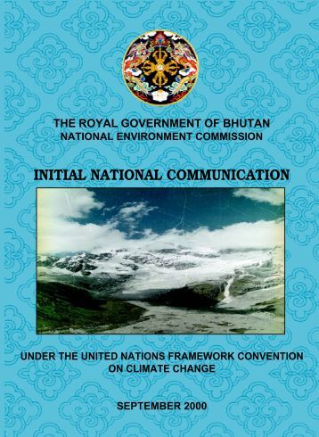 Initial National Communication, under UNFCCC, September 2000
