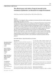 The effectiveness and safety of topical steroids in the treatment of ...