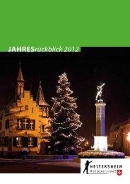 Jahresrückblick 2012 - Heitersheim