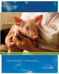 2008/2009 Annual Report - Manitoba Pork Council
