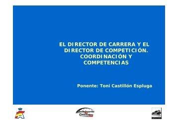 director de carrera - Real Federación Española de Automovilismo