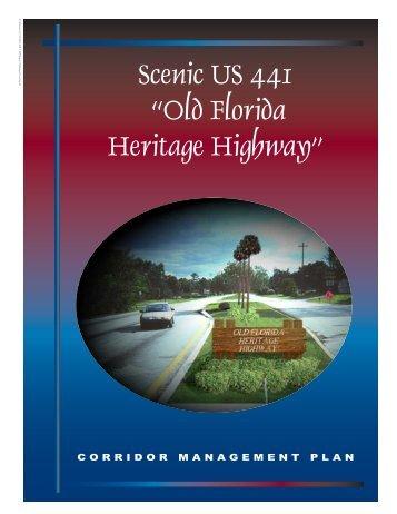 Corridor Management Plan - Florida Scenic Highways